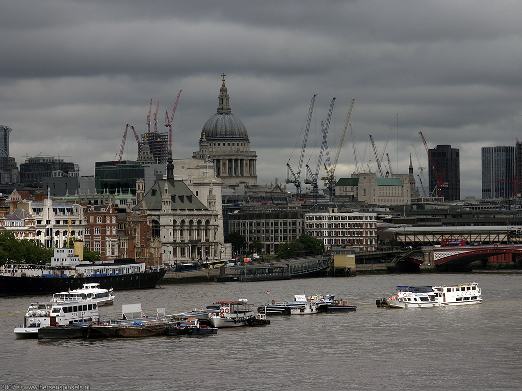 Wallpaper The Thames City Of London A View Over The
