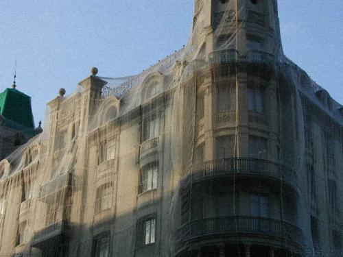 wallpaper: 'Shrouded building' - Barcelona Collection