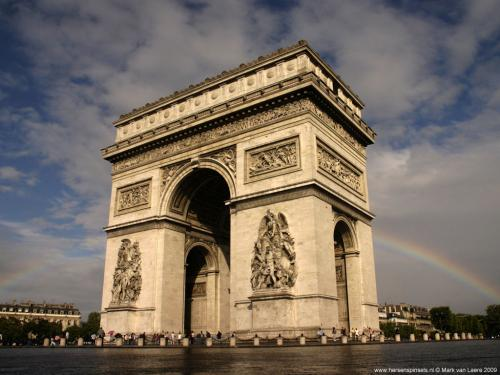 wallpaper: 'Rainbow in Paris' - Paris Collection