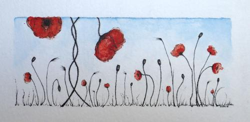 Drawing:  'Poppies 02'