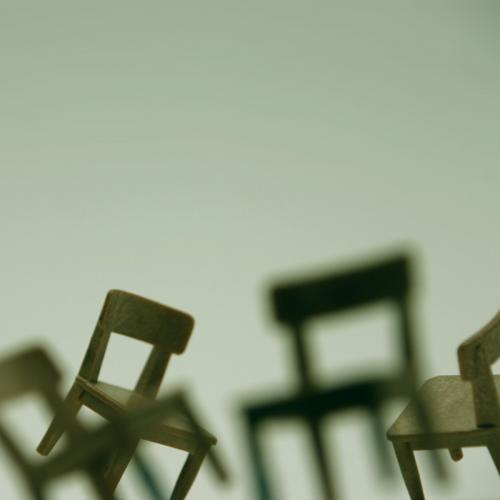 Photograph:  'Dancing chairs'