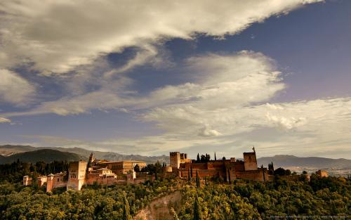 wallpaper: Alhambra Paleis Granada, HersenSpinsels
