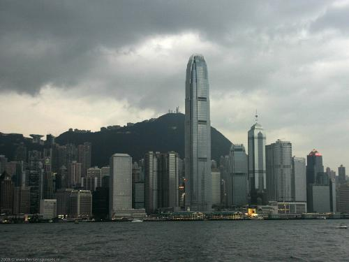 wallpaper: Skyline van Hong Kong, Hong Kong