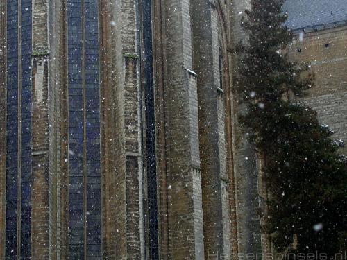 wallpaper: Kerk in de sneeuw, België