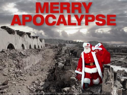 wallpaper: Merry Apocalypse , HersenSpinsels