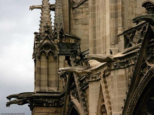 wallpaper: Waterspuwers op de Notre Dame, Parijs