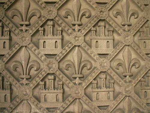 wallpaper: Ste Chapelle frans lelie, Parijs