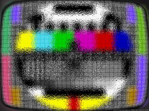 wallpaper: Draadglas Testbeeld, HersenSpinsels