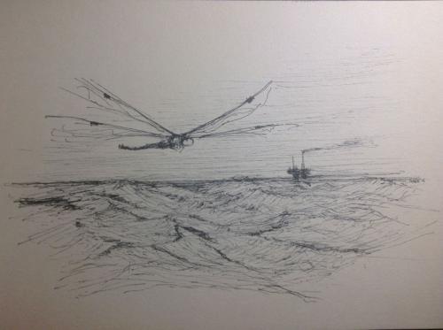 Tekening:   Lost at sea